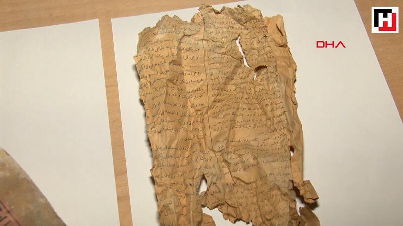 Dolmabahçe Sarayı'ndaki restorasyon sırasında 1917 tarihli gazete parçaları bulundu