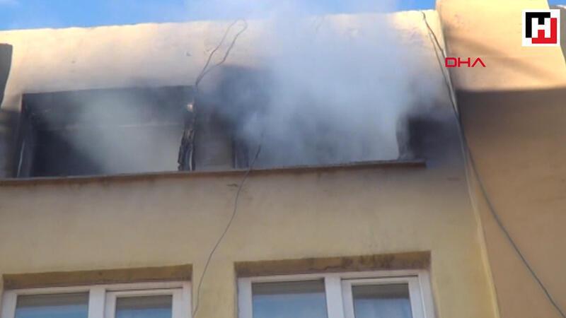 Adıyaman'da 7 katlı binadan alevler yükseldi