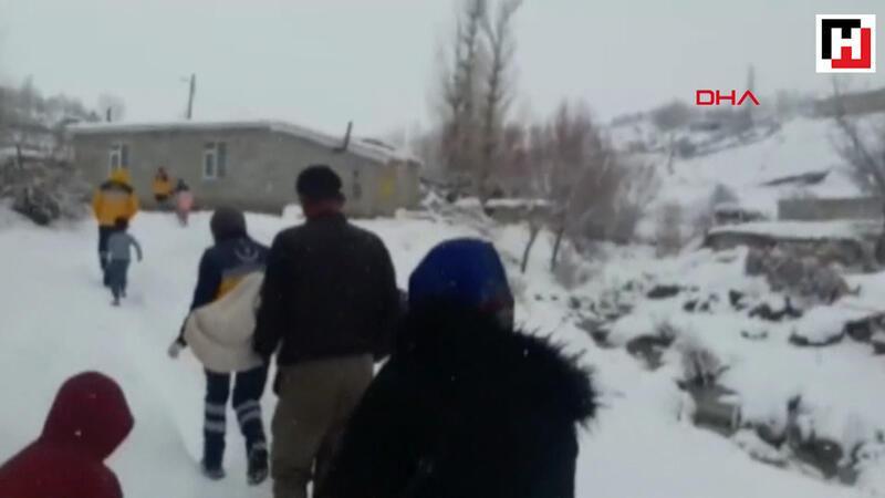 Siirt'te kar yolları kapadı