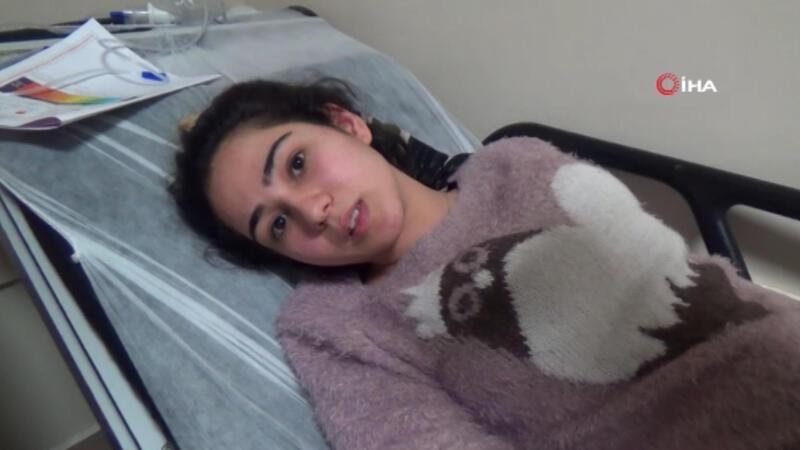 Depremde 2. kattan atlayan genç kız o anları anlattı