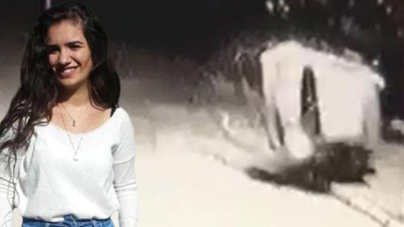 Helin'in hayatını kaybettiği kaza kamerada