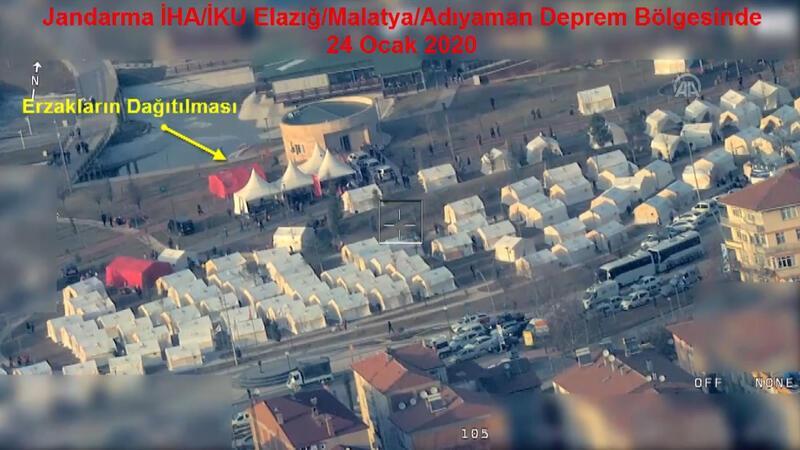Jandarma İHA'nın gözünden deprem bölgesi