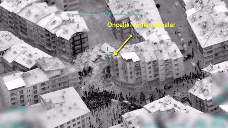 İHA'lar Elazığ deprem bölgesini havadan böyle görüntülendi