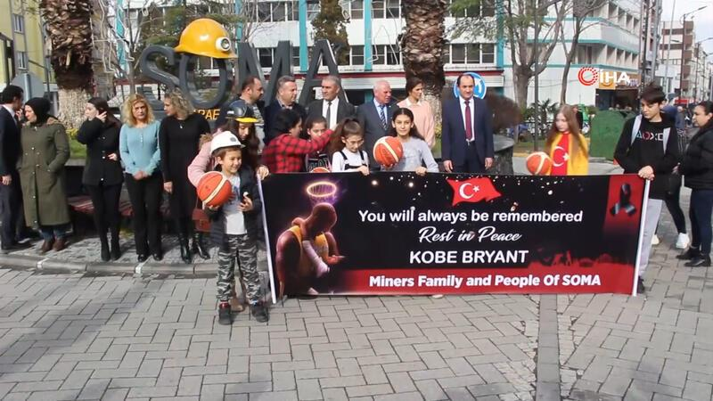 Soma maden şehitleri aileleri, Kobe Bryant'i unutmadı