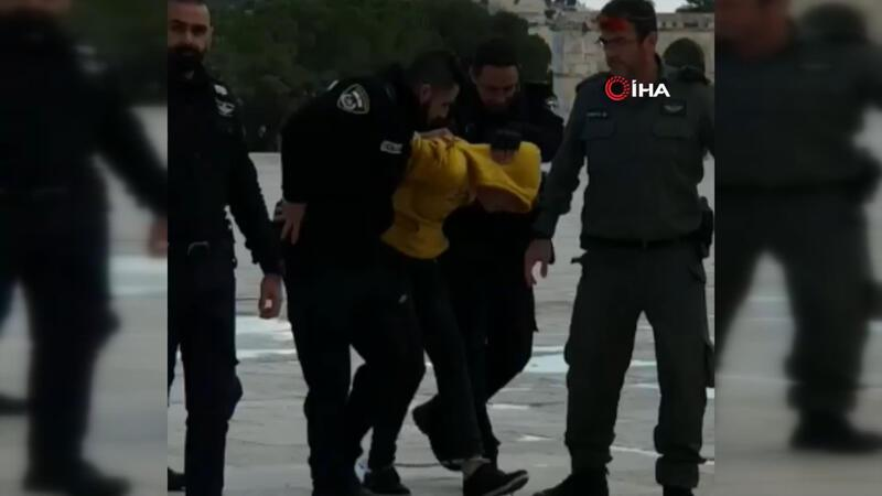 İsrail güçlerinden Mescid-i Aksa'ya baskın