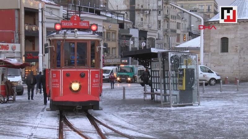 İstanbul sabaha karla uyandı