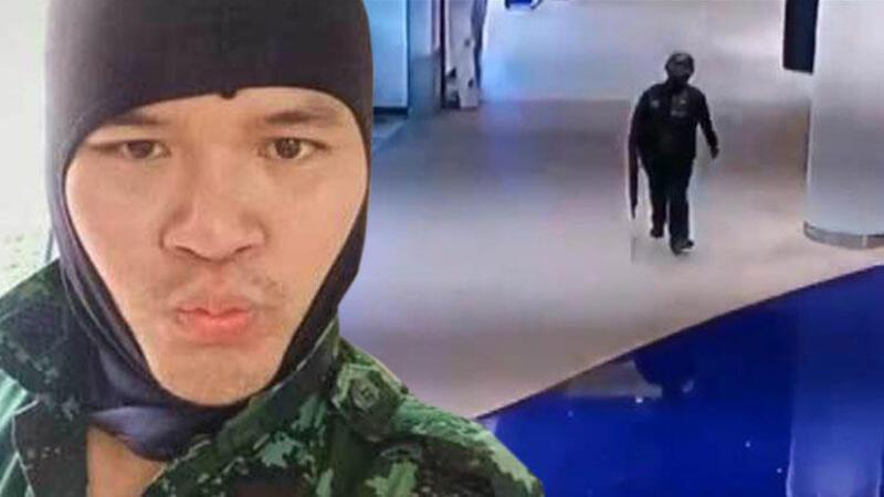 Tayland'da silahlı çatışma anları kamerada