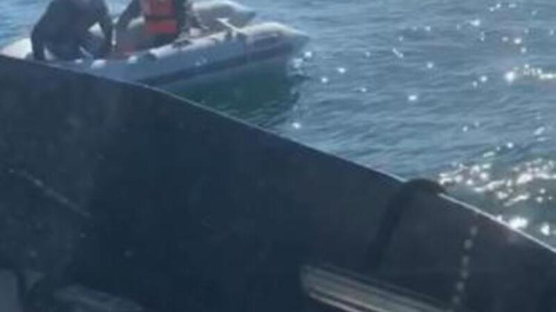 Marmara'da batan teknedeki 2 kişi böyle kurtarıldı
