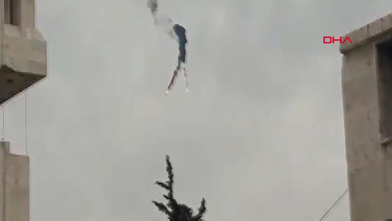 İdlib'de Esad rejiminin helikopteri vuruldu
