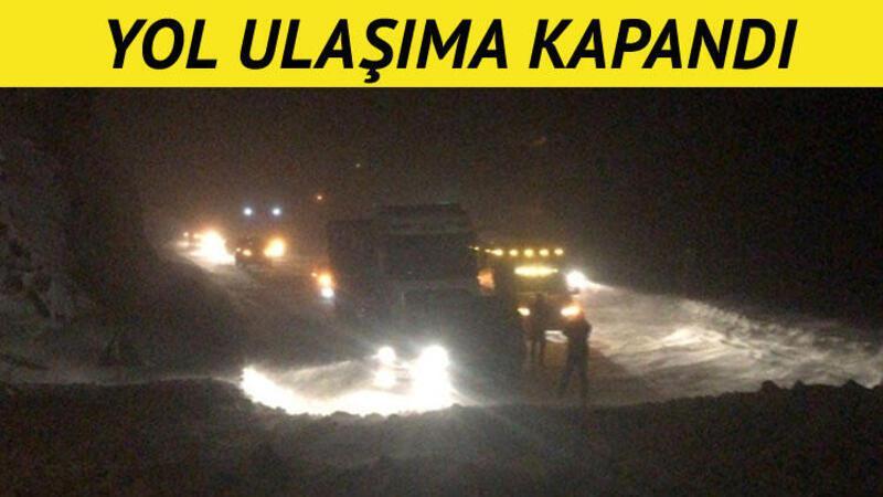 Zigana Dağı'na çığ düştü, yol kapandı