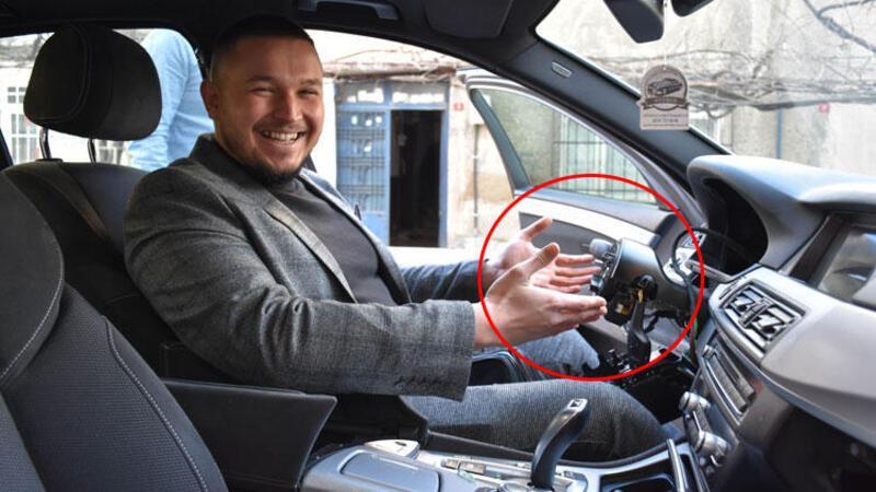 Gaziosmanpaşa'da otomobilin direksiyonu çaldılar