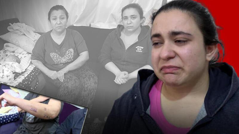 Eşini, üvey kızını ve 40 günlük bebeğini bıçakladı
