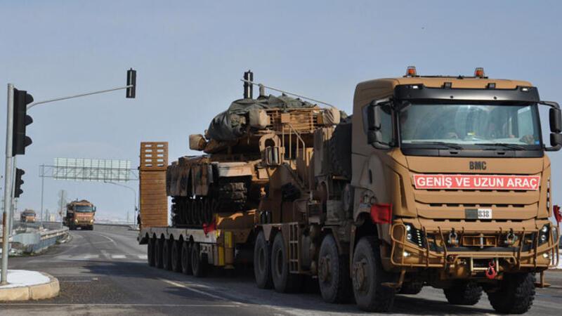Suriye'ye tank sevkiyatı: Askeri konvoy İslahiye'ye ulaştı