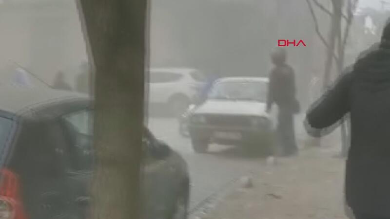 Bahçelievler'de binanın çökmesi sırasında yaşananlar güvenlik kamerasında