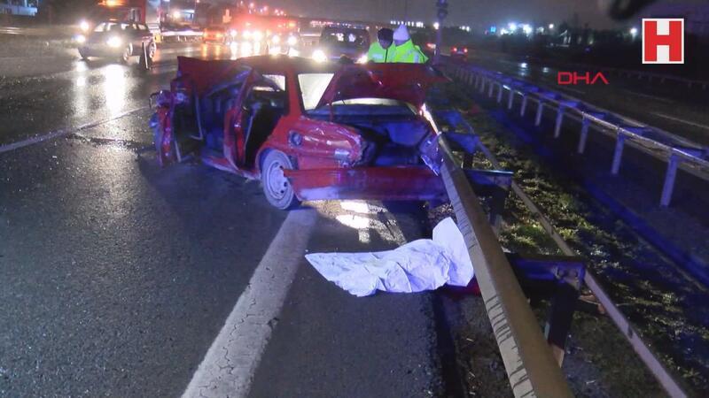 TEM Otoyolu'nda trafik kazası 2 ölü