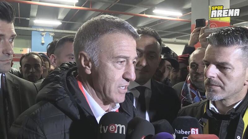 Trabzonspor Kulübü Başkanı Ahmet Ağaoğlu, Sivasspor mücadelesini değerlendirdi