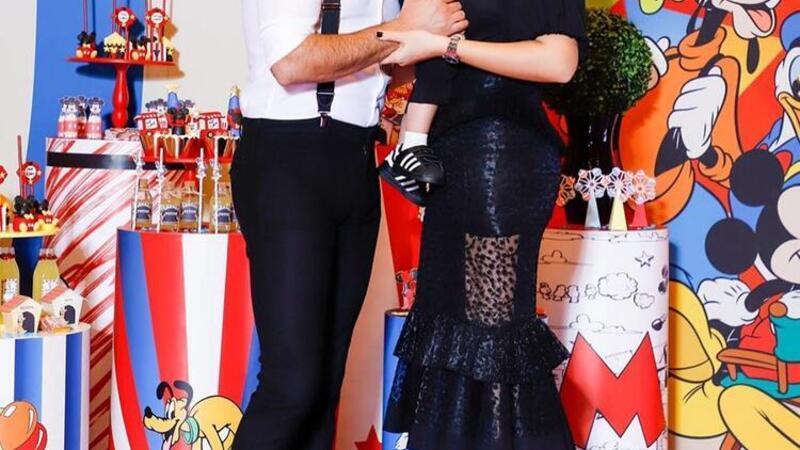 Alişan ve eşi Buse Varol oğulları Burak'ın birinci yaşını kutladı