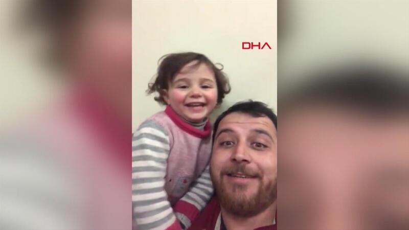 Kızının korkmaması için bomba seslerini oyuna dönüştürdü