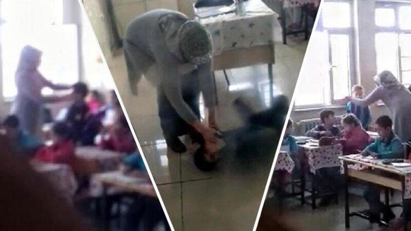 Gaziantep'te öğrencilere şiddet kameraya yansıdı