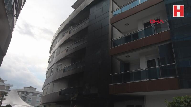 Antalya'da rezidansta korkutan yangın