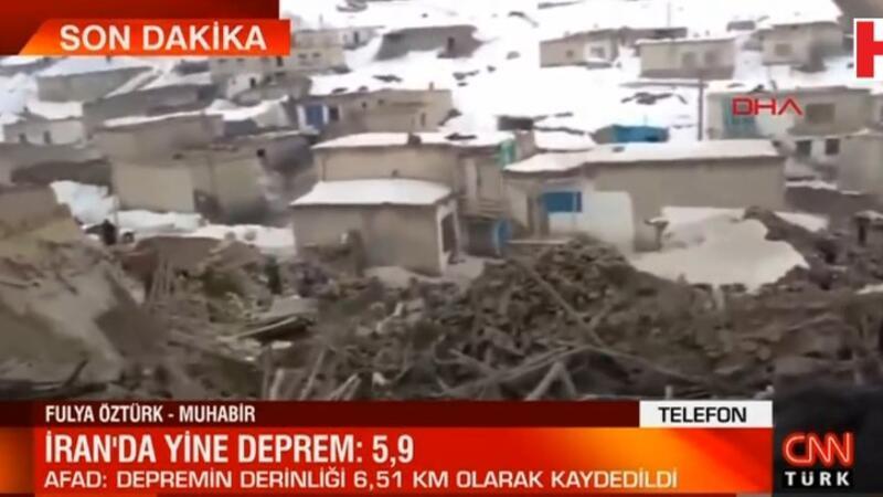 İran'da 5.9 büyüklüğünde bir deprem meydana geldi