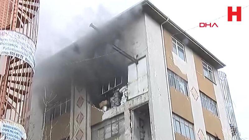 Güngören'de patlama sonrası yangın