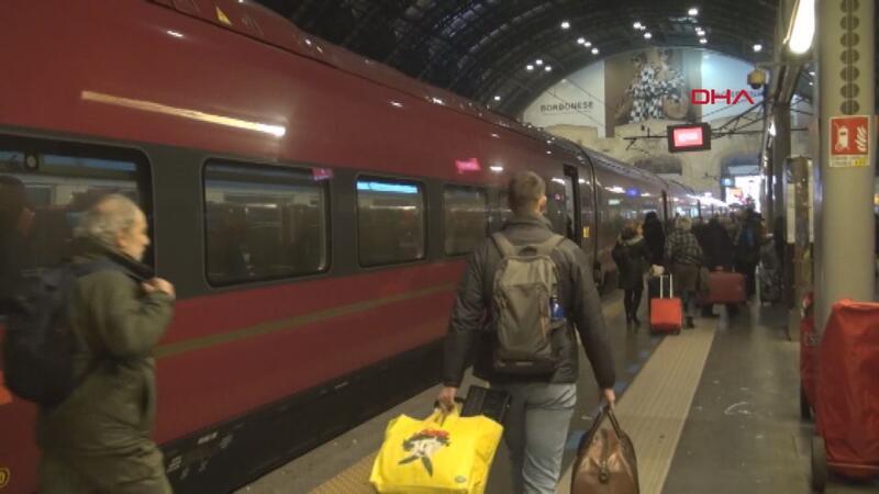 İtalya'da koronavirüs tren seferleri aksattı