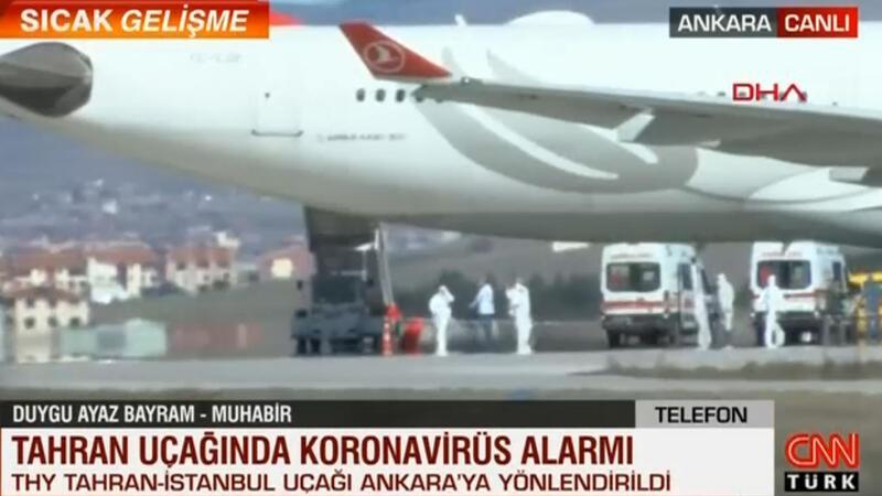 Son dakika... Tahran uçağında koronavirüs alarmı
