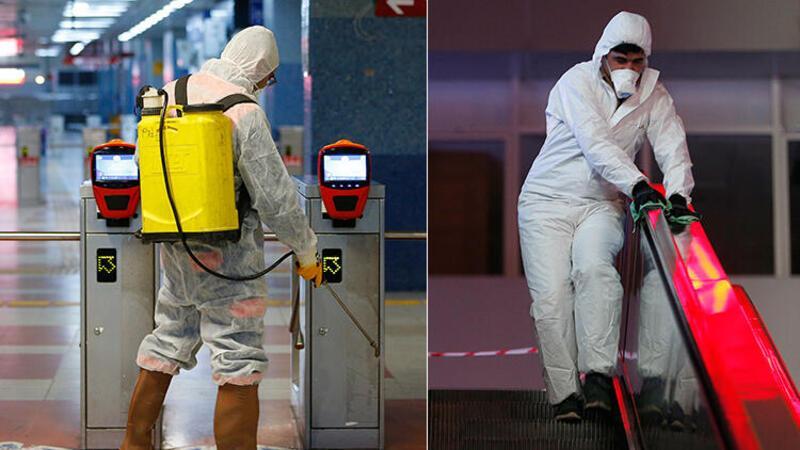 Son dakika... Ankara'da metro veAnkaray istasyonlarında 'virüs' temizliği