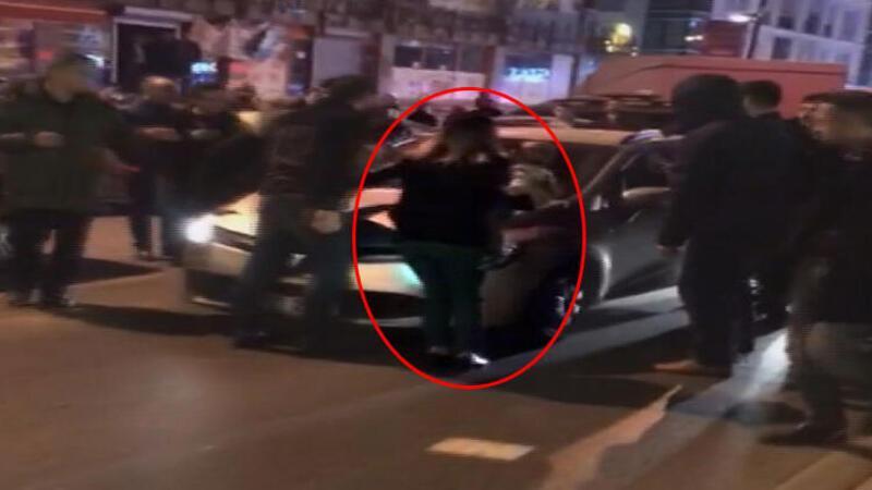 Otomobili kucağında bebeği olan kadının üzerine sürdü