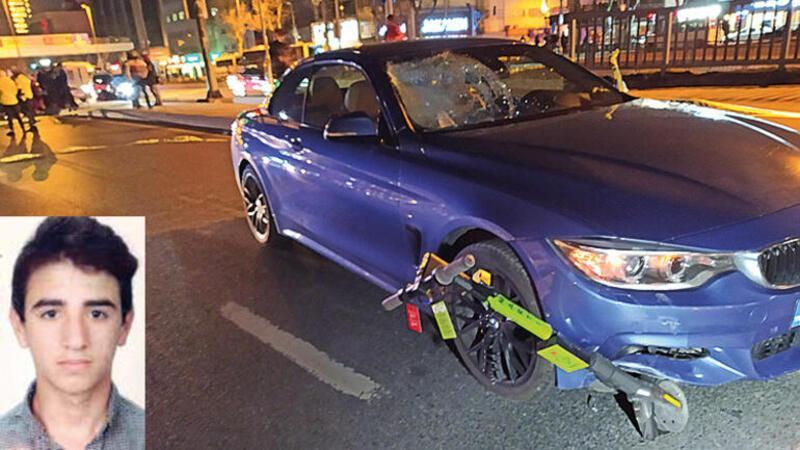 Beşiktaş'ta otomobilin çarptığı elektrikli scooter sürücüsü öldü