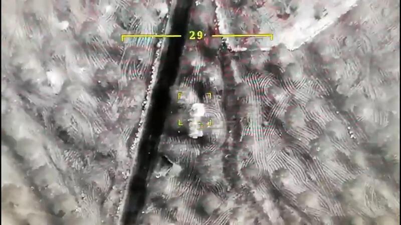 TSK'nın Suriye'de Esed rejiminin askeri araçlarını vurduğu anlar