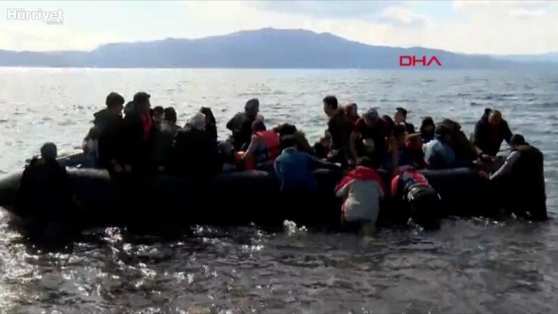 Mülteciler botla Ege'ye açılıyor... İşte o anlar
