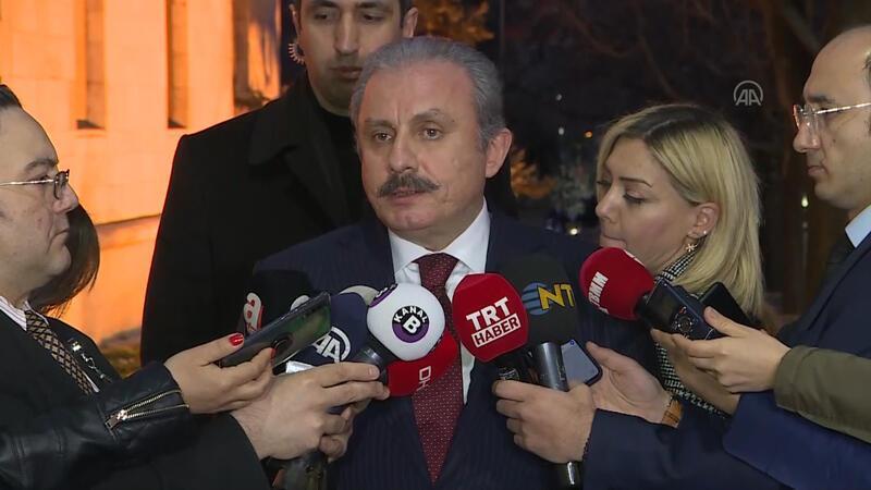 TBMM Başkanı Mustafa Şentop, TBMM'de gazetecilerin sorularını yanıtladı