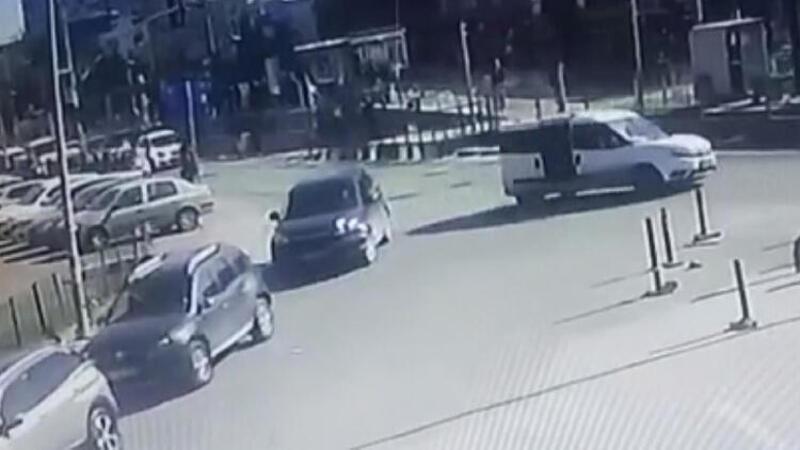 Gaziosmanpaşa'daki şüpheli kaçırma güvenlik kamerasında