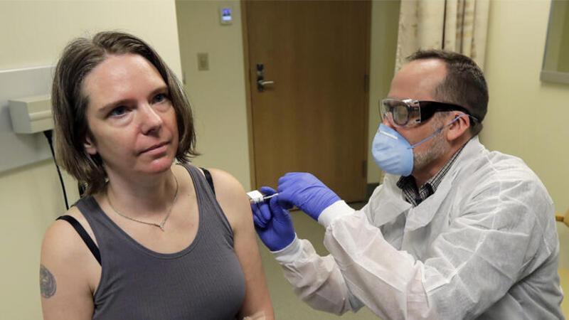 Corona virüs aşısı için ilk test yapıldı