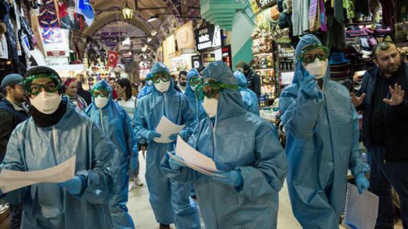 İl Sağlık Müdürlüğü ekiplerinden Kapalıçarşı esnafına sağlık denetimi