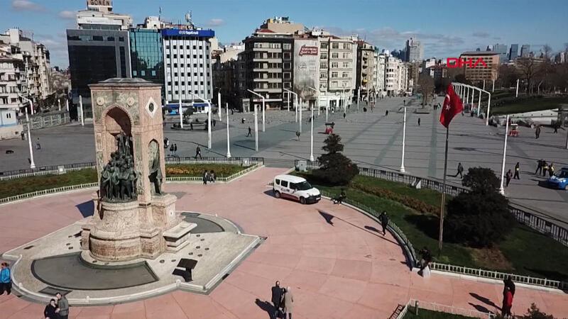 Taksim Meydanı  koronavirüs sessizliği
