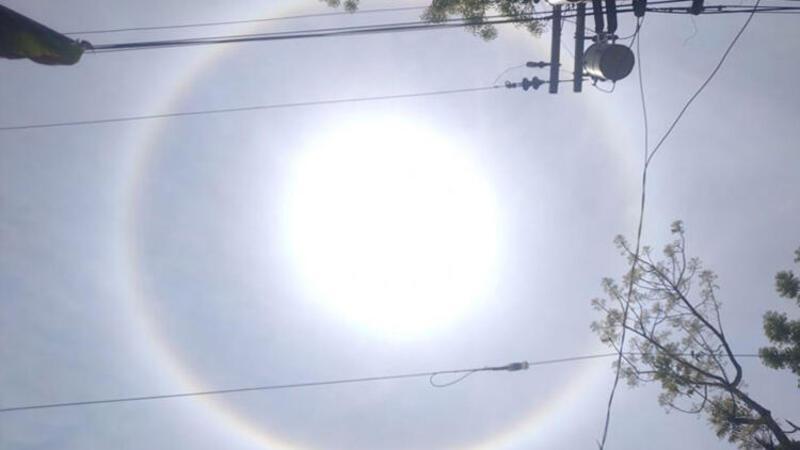 İlginç güneş manzarası ülkede gündem oldu