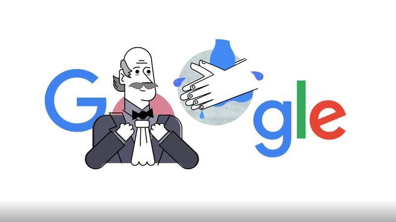 Google Ignaz Semmelweis ile el yıkama videosu hazırladı