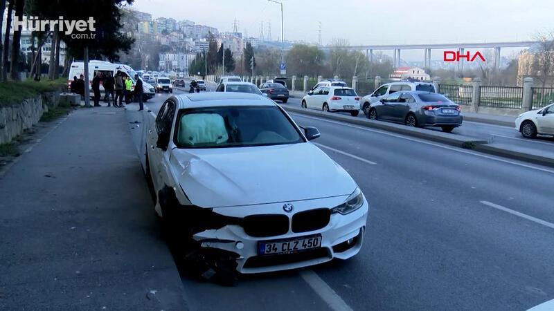 Kağıthane'de zincirleme trafik kazası