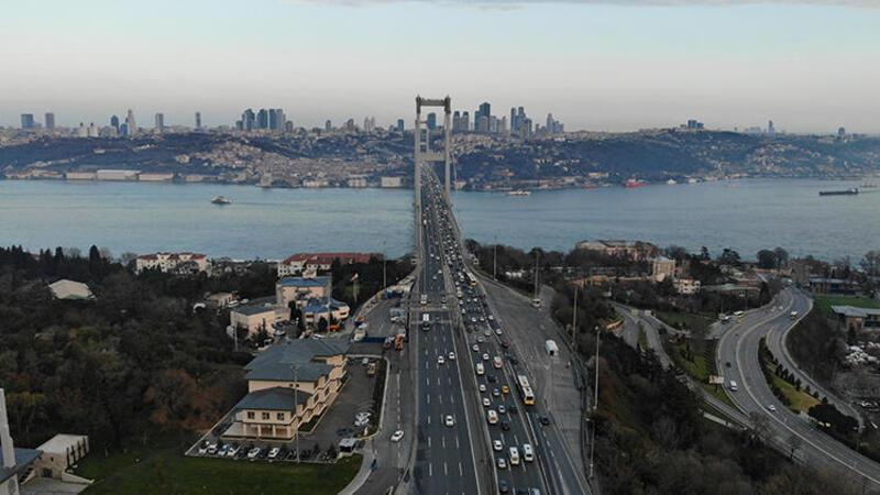 İstanbul trafiğinde yoğunluk yüzde 13'lere düştü