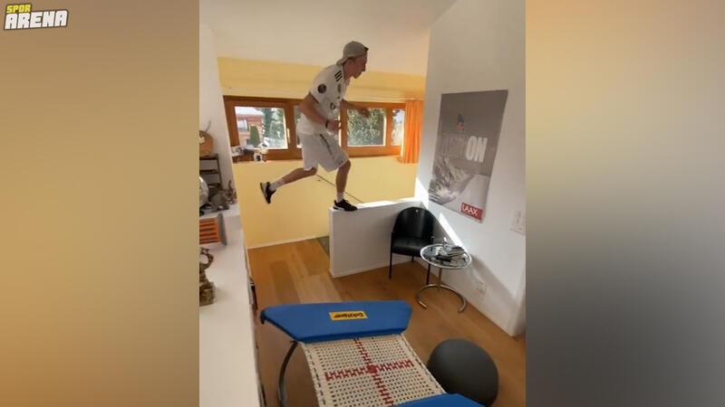 Serbest kayakçı Andri Ragettli evde sınırları zorladı!