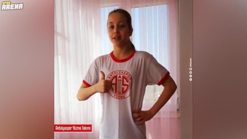 Antalyaspor Yüzme Takımı sporcuları: 'Evde kal Türkiye'