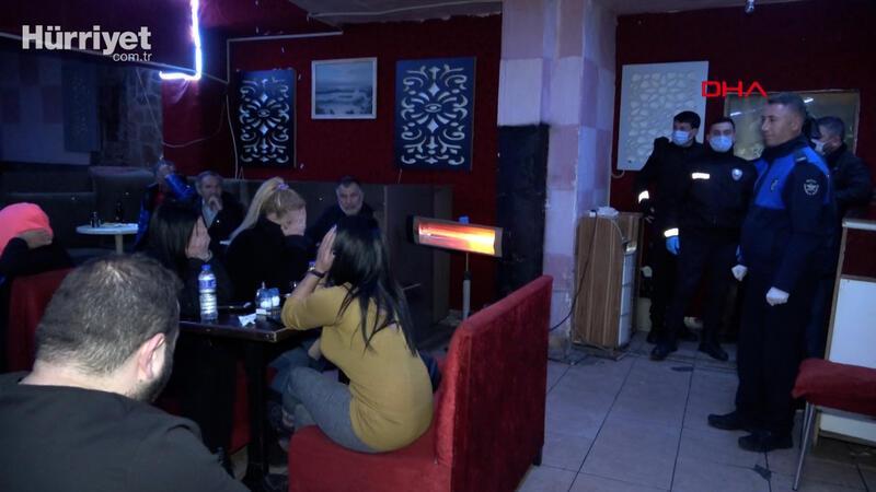 Bursa'da gece mekanlarına 100 polisle 'corona virüs' baskını
