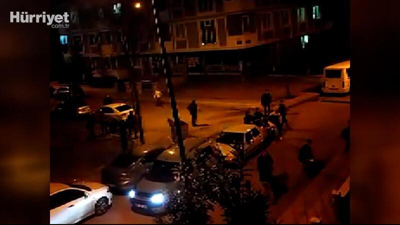 Samsun'da bir kişinin vurulduğu kavga kamerada