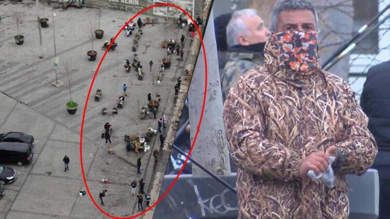 Üsküdar'da yasaklandı ancak Karaköy'de manzara değişmedi