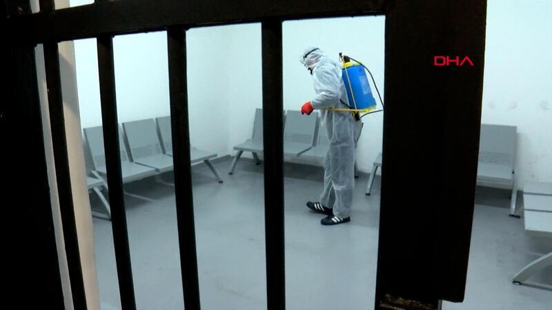 İstanbul Adalet Sarayı'nda corona virüs önlemleri
