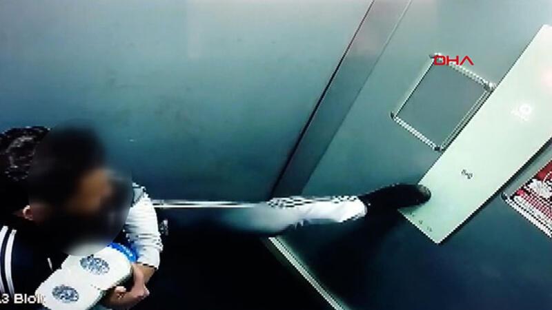 Sosyal medyada tepki çeken asansör görüntüleri