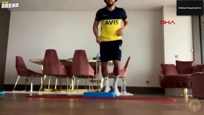 Fenerbahçeli futbolcular telekonferans ile antrenmanda!
